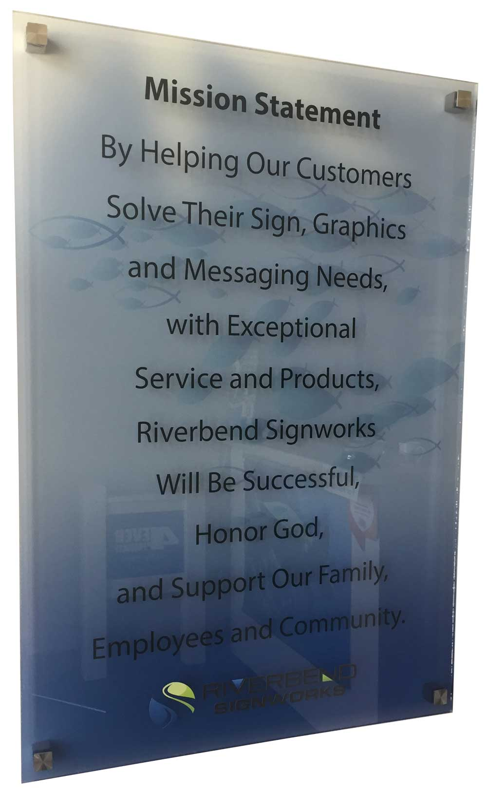 Mission Statement at Riverbend Signworks