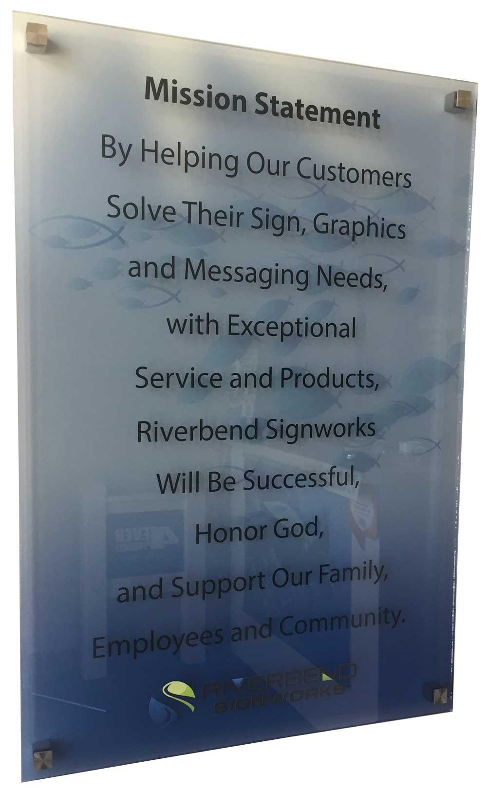 Mission Statement at Riverbend Signworks