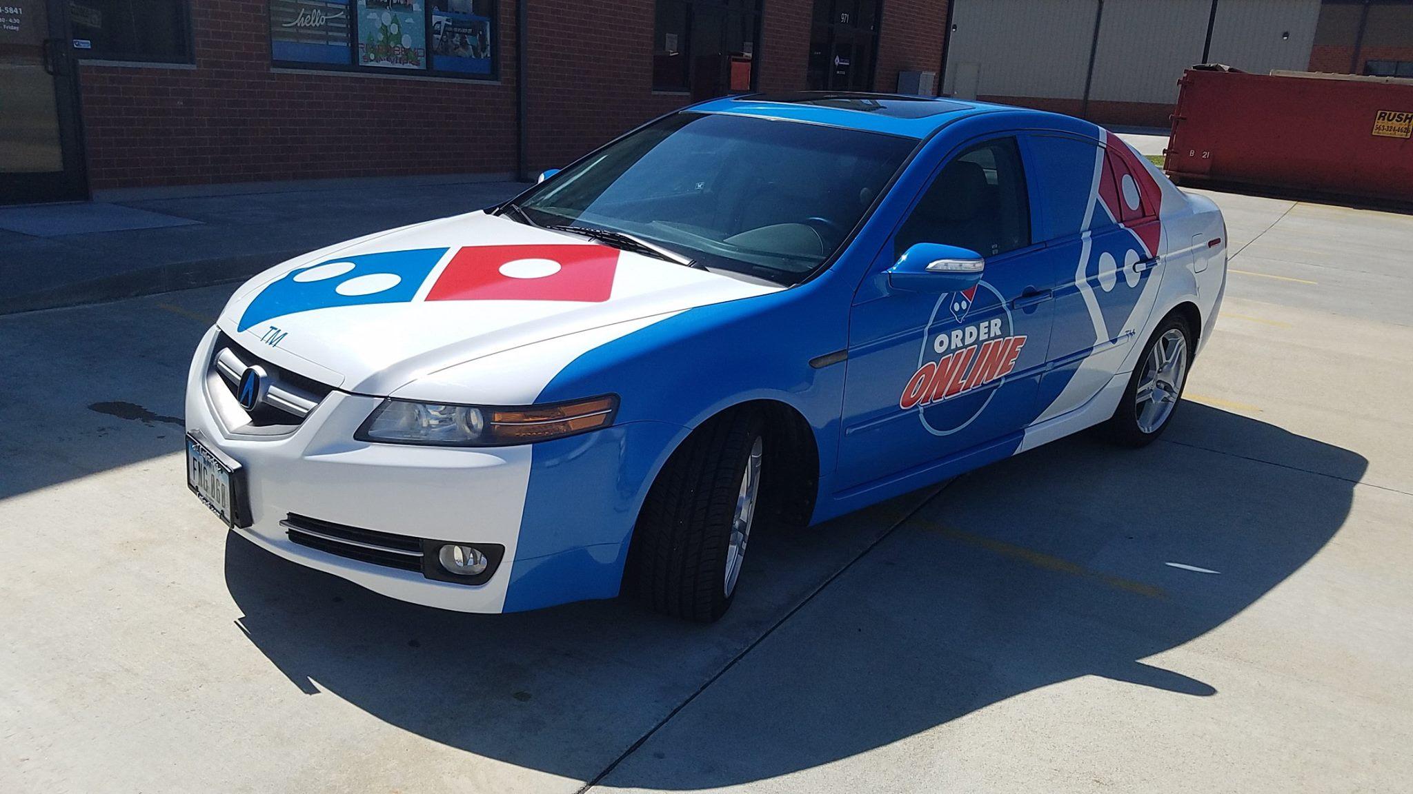 Domino S Car Wrap In Clinton Ia Bettendorf Iowa