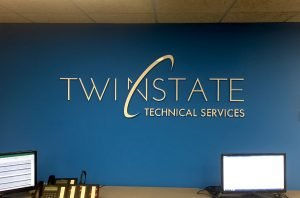 3D Dimensional Sign for Twin State Technical Services in Davenport, Iowa