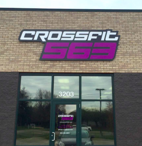 Building Sign for CrossFit 563 in Bettendorf, Iowa