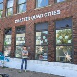 Business Building sign for Crafted Quad Cities in Davenport, Iowa