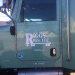 Custom semi truck door sign for Riggs Rigs, LLC