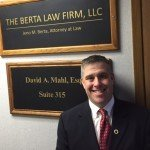 Indoor Business sign for The Berta Law Firm, LLC