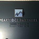 Indoor company sign for Peakridge Partners LLC in Davenport, Iowa