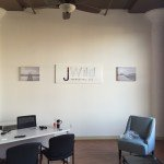 Indoor wall sign for J Wild Marketing in Rock Island, IL