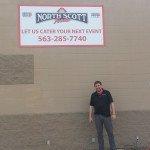 Outdoor business sign for North Scott Foods in Eldridge, IA