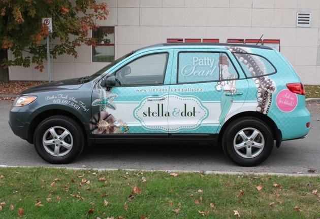 Car vehicle wrap for Stella & Dot in Coralville, IA