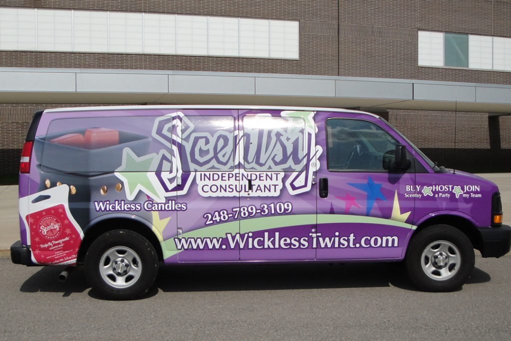 Van Wrap for Scentsy Independent consultant in the Quad Cities