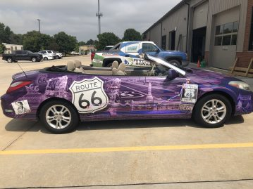 Nat King Cole on the Route 66 car wrap for Michael Angelo