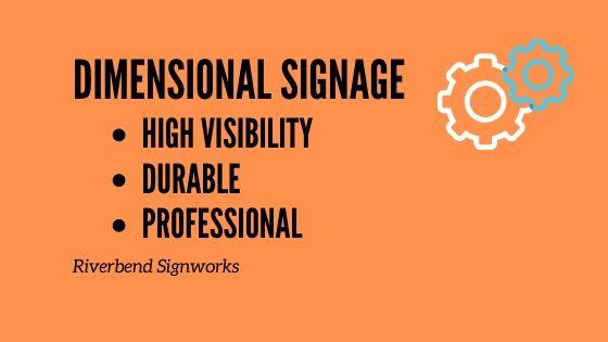 dimensional signage flyer