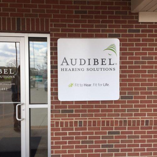 Audibel Building Sign